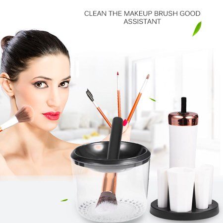 WALFRONT Cosmetic Cleaning Tools,Electric Makeup Brush,Electric Makeup Brush Cleaner Cosmetic Cleaning Tools Kit Beauty Sets UV Disinfection Platinum - image 9 de 9