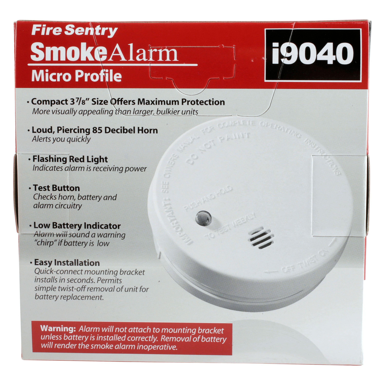 Kidde Fire Sentry Micro Profile 3 Year Smoke Alarm, 9 Volt
