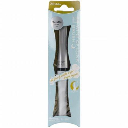 Lunt Memory - Memory System Wink Of Luna Metallic Brush Pen - packaged-Silver