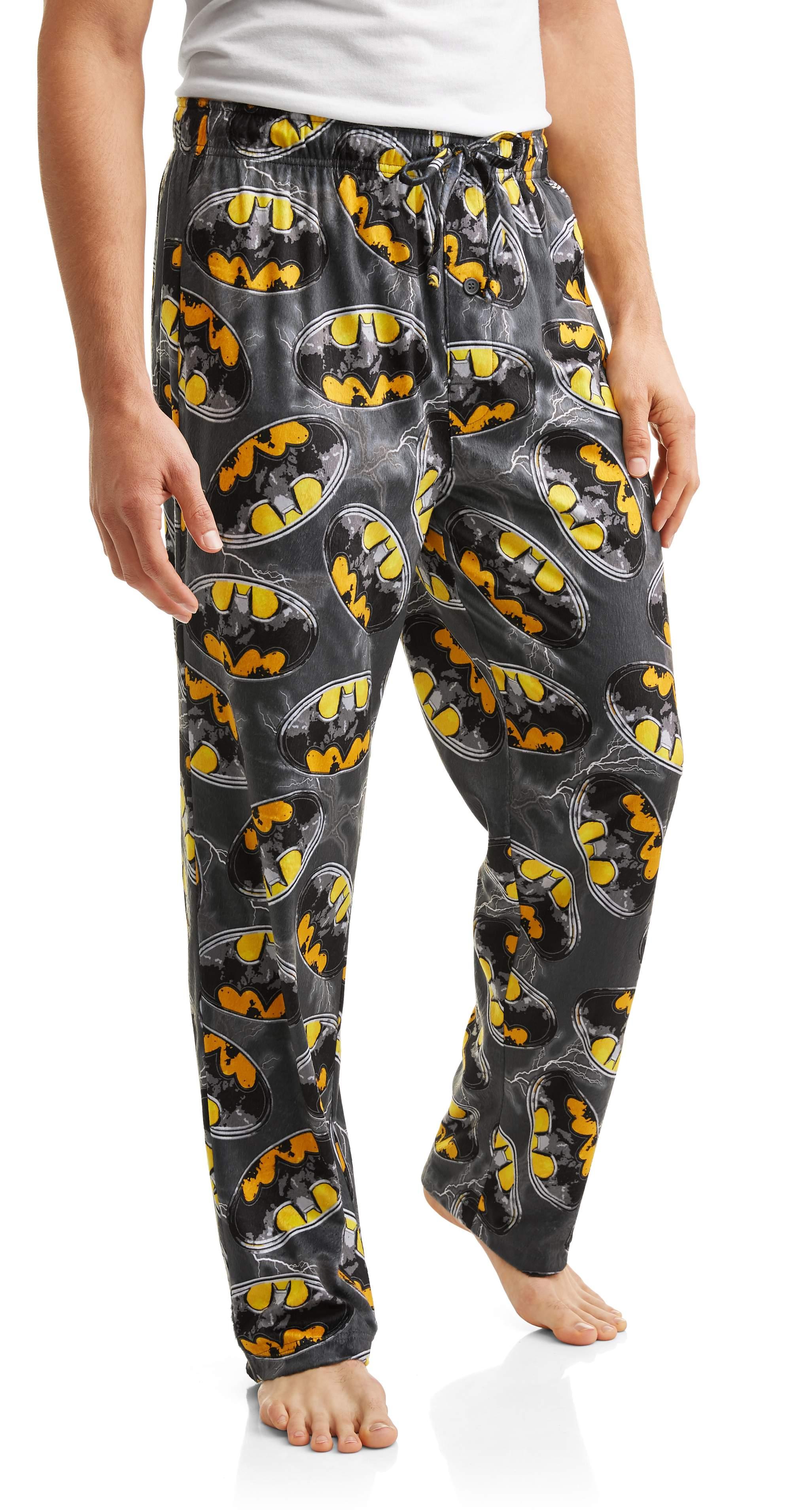 Batman Men's Minky Fleece Pants, Up to Size 2XL by Generic