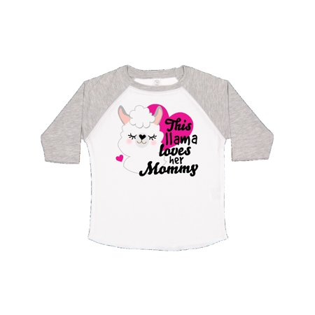 Valentines Day This Llama Loves Her Mommy Toddler T-Shirt