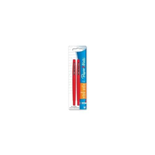 Paper Mate Paper Mate Flair Pen, Point Guard Tip, 2-PK, Red Barrel-Ink