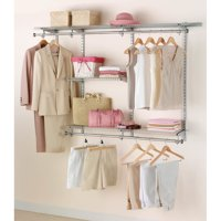 Rubbermaid 3-6' Classic Closet Kit Titanium Finish