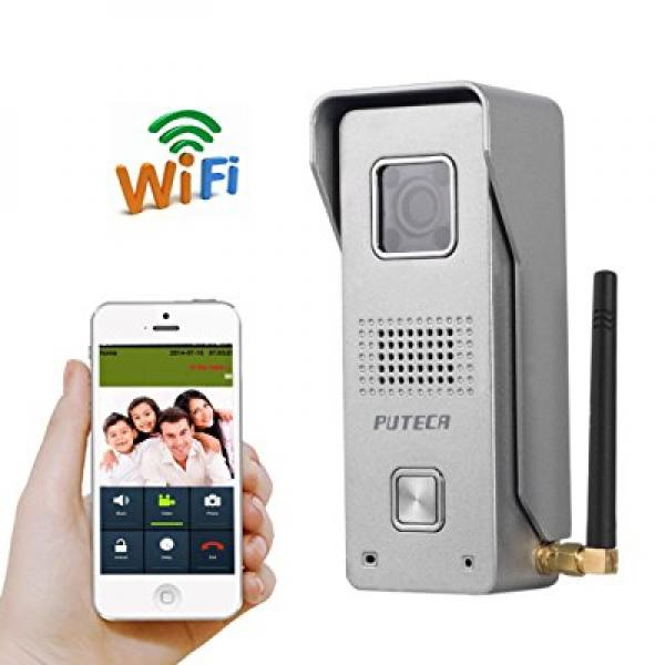 PUTECA WiFi Wireless Video Door Phone Intercom Doorbell Camera Remote Unlock  IR Night Vision Alarm Android
