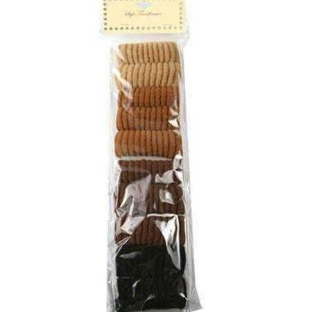 Brown & Black Hair Scrunchies 10pcs - - image 1 of 1