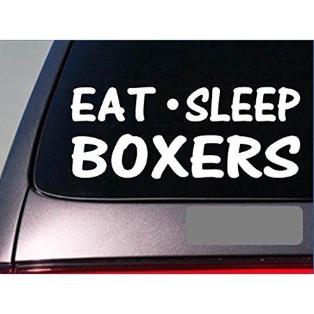 Eat Sleep Boxers Sticker *G807* 8