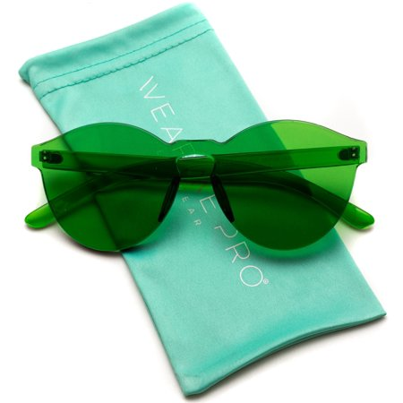 WearMe Pro - Colorful Transparent Round Super Retro (Round Sunglasses Amazon)