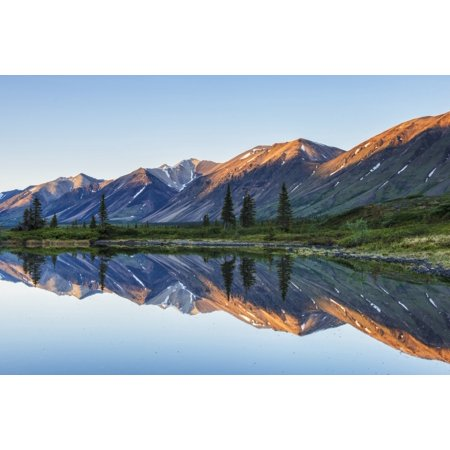 Morning light on Chigmit Mountains in Twin Lakes area of Lake Clark National Park & Preserve Southcentral Alaska Stretched Canvas - Carl Johnson  Design Pics (19 x 12) - Twin Lakes Park Halloween