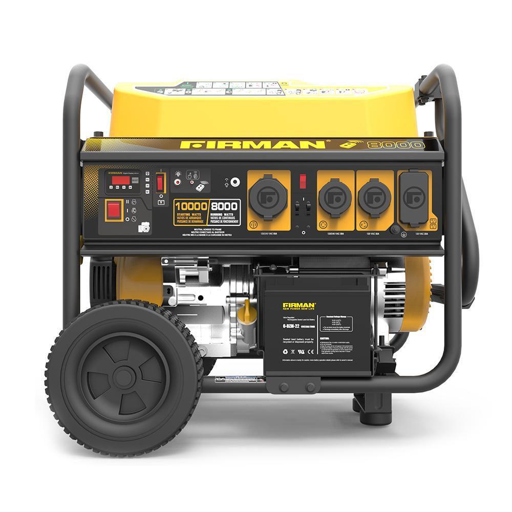 Firman P08004 10,000/8,000 Watt 120/240 V Gas Remote Start Generator, cETL