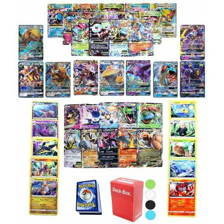 Pokemon Cards Gx Mega Or Ex Card Guaranteed 5 Reverse Cards 5 Rare Or Holo Rare Cards 40 Common Uncommon Cards Deck Box And Random Bonus 51