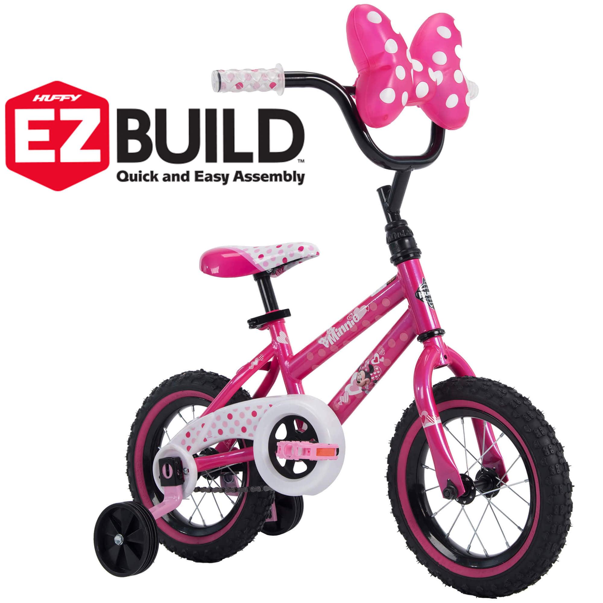 """Disney Minnie 12"""" Girls' EZ Build Pink Bike, by Huffy"""