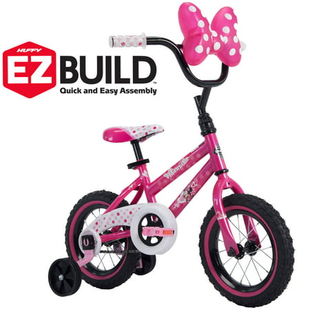 "Disney Minnie 12"" Girls' EZ Build Pink Bike, by"