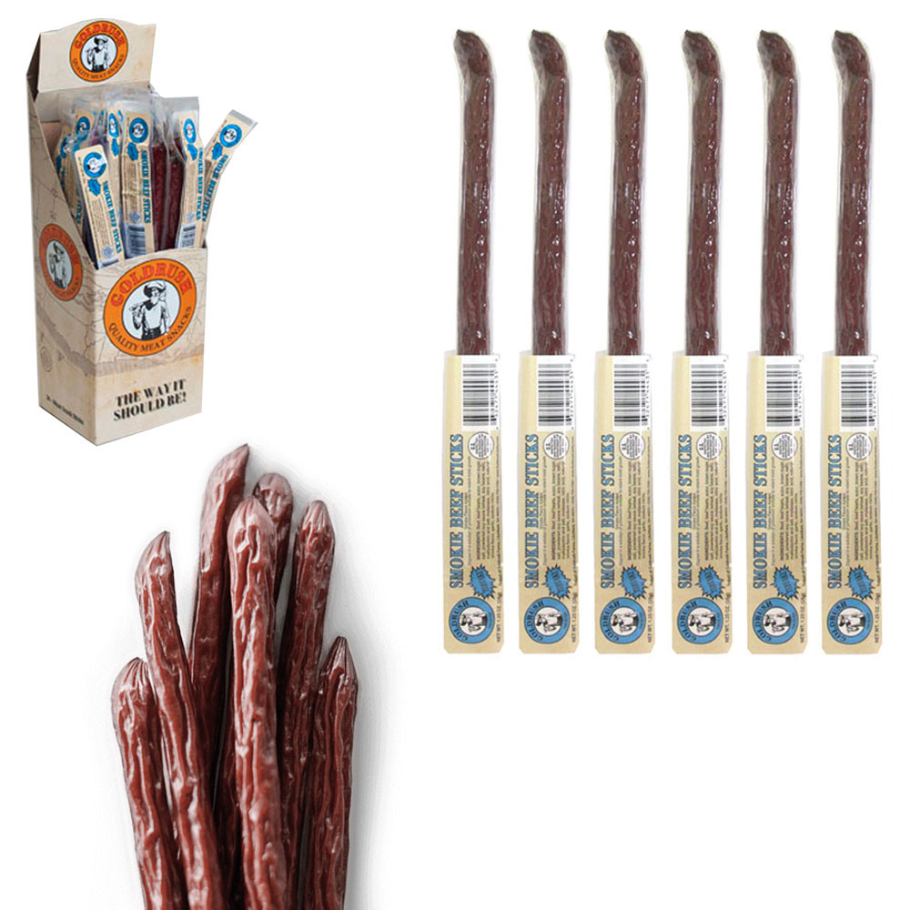 6 Pc Smokie Beef Jerky Sticks Teriyaki Bag Camping Hiking Hunting Trails Snack