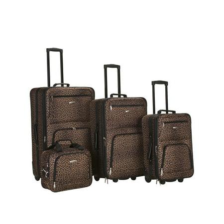 Rockland Luggage Jungle 4 Piece Softside Expandable Luggage Set F125