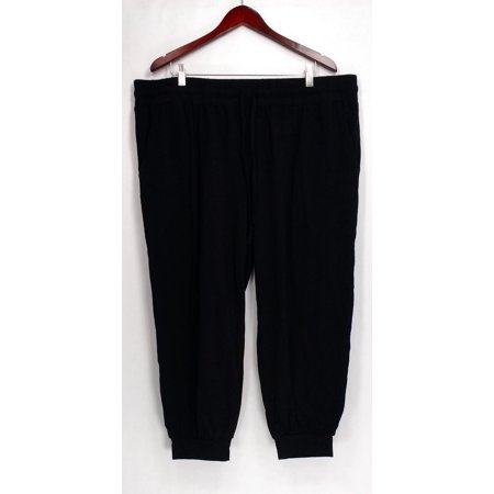 AnyBody Petite Size Pants XLP Loungewear Cozy Knit Jogger Black A286476