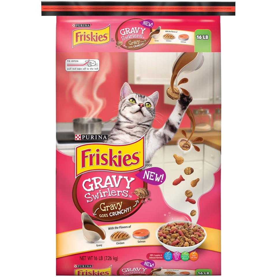 Friskies Gravy Swirlers Adult Dry Cat Food, 16 lb