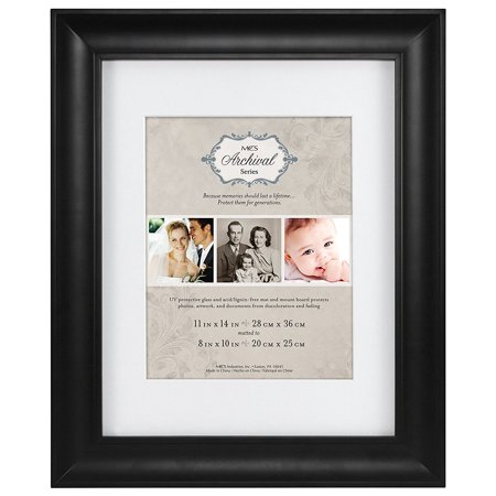 47619 11 14-Inch Archival Frame with 8 10-Inch Opening Matted, Black ...