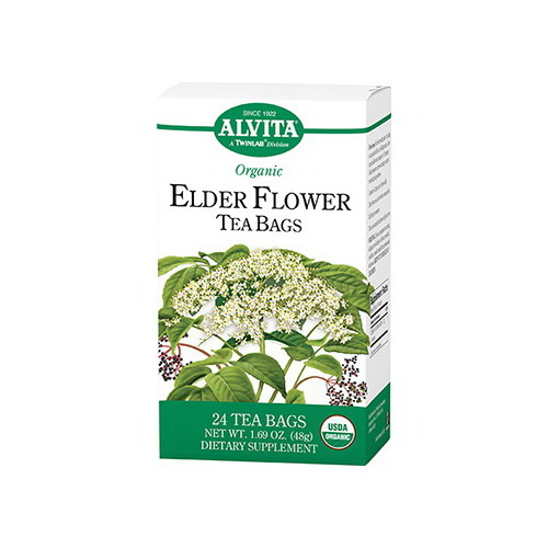 ***DISCONTINUED***Alvita Teas Organic Elder Flower Tea Bags - 24 Bags