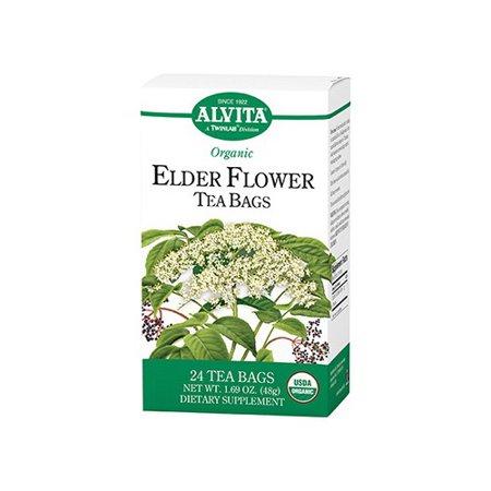 *** *** POURSUIVIES Alvita Thés Sacs bio Elder fleur de thé - 24 Sacs