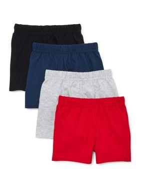 Garanimals Baby Boy Jersey Shorts Multi-Pack, 4pc