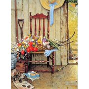 Spring Flowers Floral Still Life Art Print Wall Art By Norman Rockwell