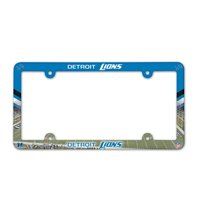 Detroit Lions Official NFL 12 inch x 6 inch Plastic License Plate Frame by Wincraft