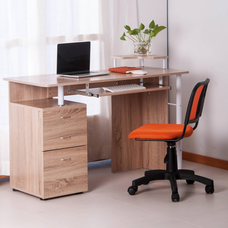 Merax Computer Desk With Keyboard Tray Three Spacious