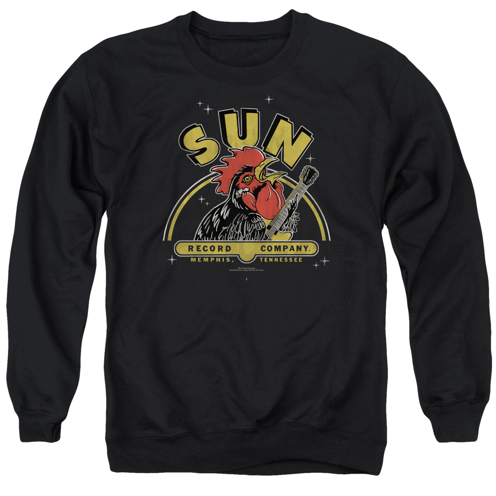 Sun Rocking Rooster Mens Crewneck Sweatshirt