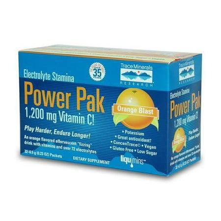 Electrolyte Power Pak (Electrolyte Stamina Power Pak Orange Blast Trace Minerals 30 Packet)
