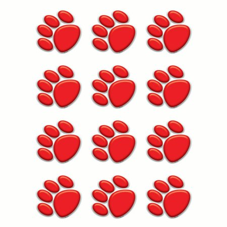 RED PAW PRINTS MINI ACCENTS - Red Paw Print