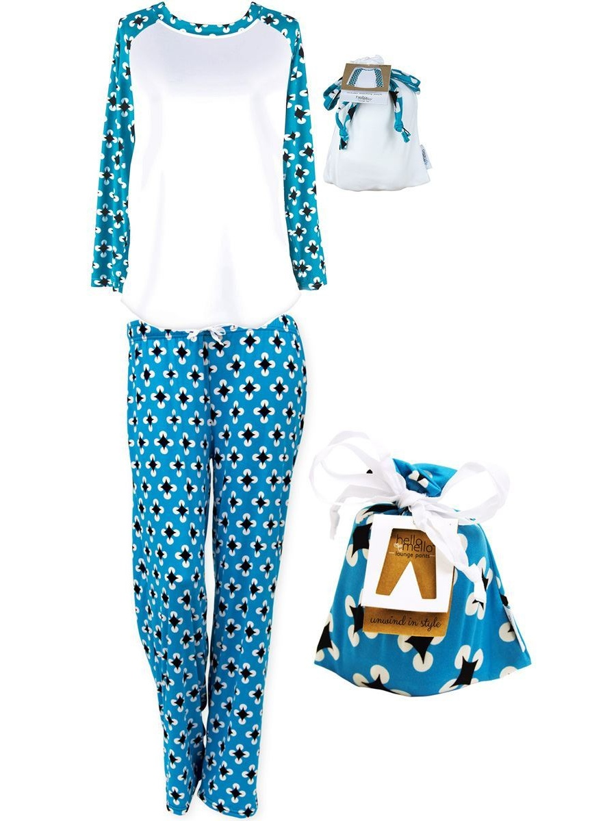 Hello Mello Hello Mello Luxurious Soft Womens Loungewear Set Top And Pant Matching Set With Drawstring Bag Max Relax Walmart Com