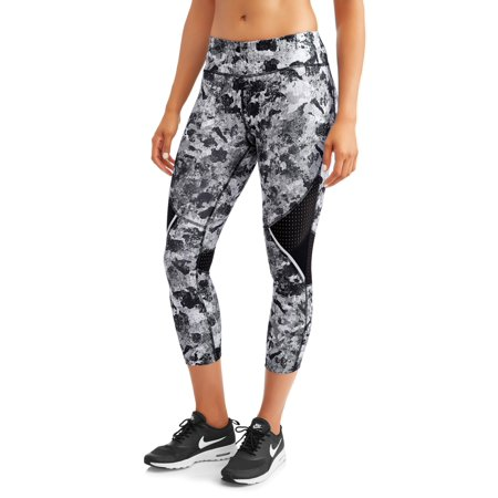 f18887bcdd84e0 Avia - Women's Active Allover Print Performance Capri Legging with Mesh  Inserts - Walmart.com