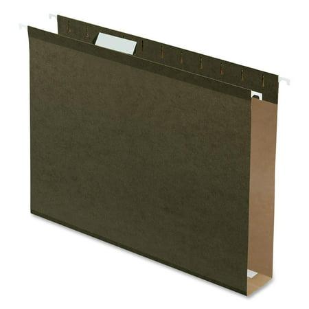 "Pendaflex 2"" Hanging File Folders Letter Size 25/Pkg-Green, 1/5 Cut Tab"
