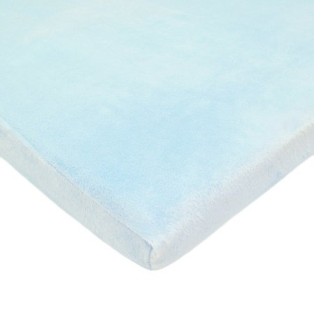 DISCONTINUED TL Care Heavenly Soft Chenille Cradle Sheet, Blue