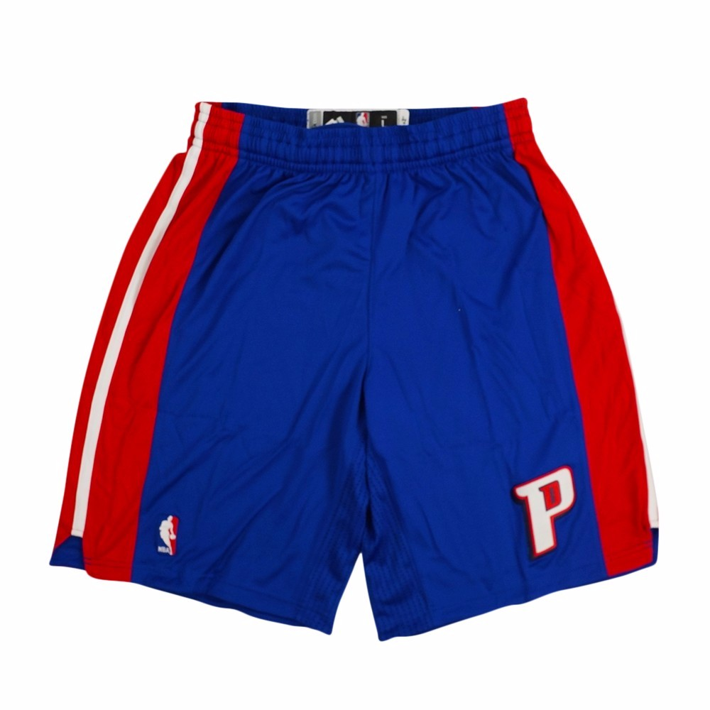 Detroit Pistons NBA Adidas Blue Authentic On-Court Climacool Team Game Shorts For Men