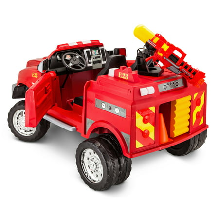 12-Volt RAM 3500 Fire Truck Ride-On Toy Car by Kid Trax,