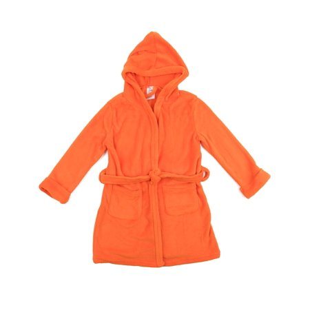 Girls Hooded Fleece Robe - Leveret Kids Robe Boys Girls Solid Hooded Fleece Sleep Robe Bathrobe (2 Toddler-14 Years) Variety of Colors