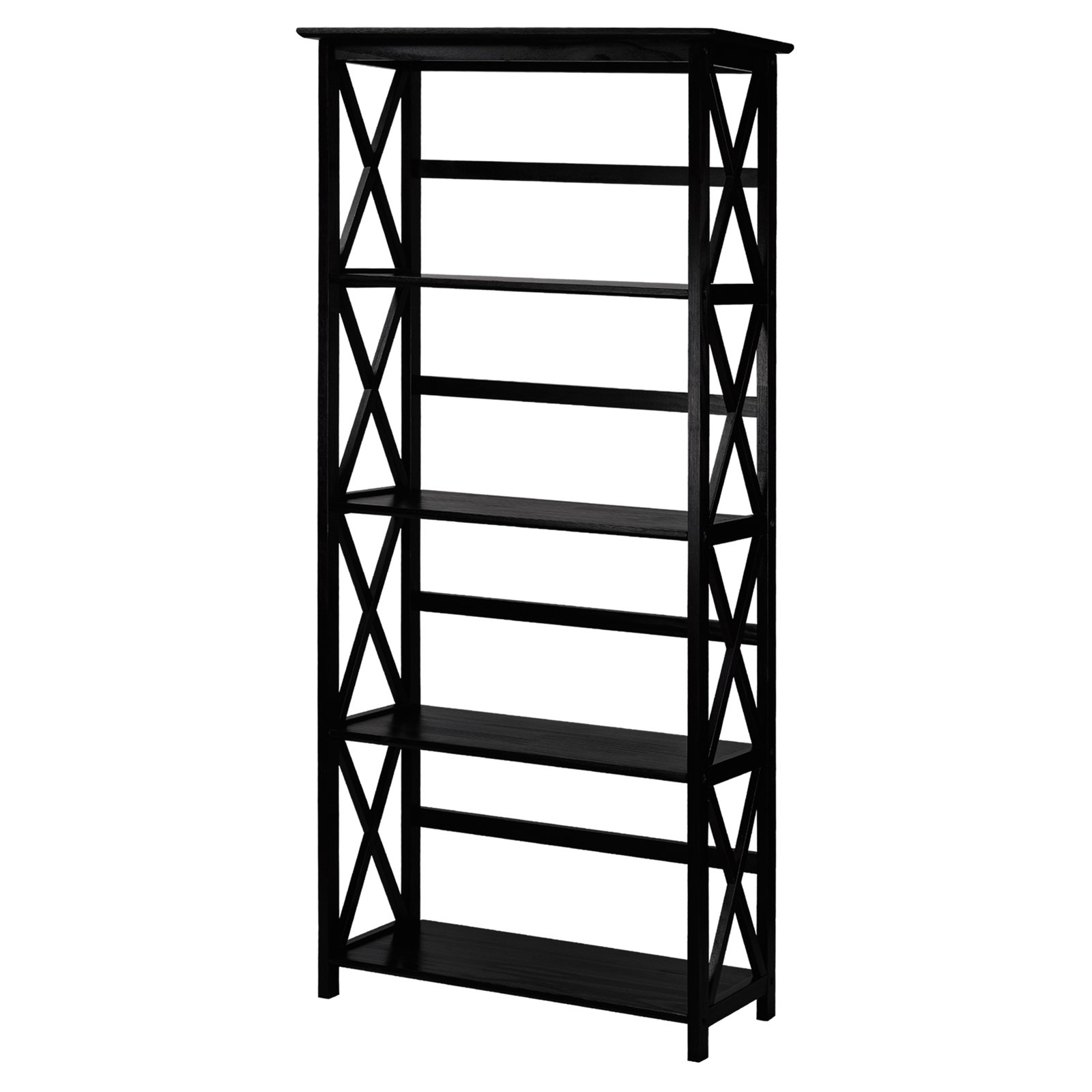 Montego 5-Shelf Bookcase-Black