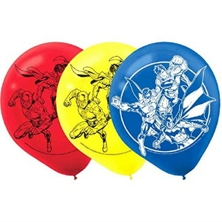Justice League Latex Balloons, Party Favor - Justice League Birthday Party