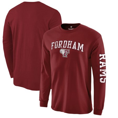 Fordham Rams Fanatics Branded Distressed Arch Over Logo Long Sleeve T-Shirt - Garnet