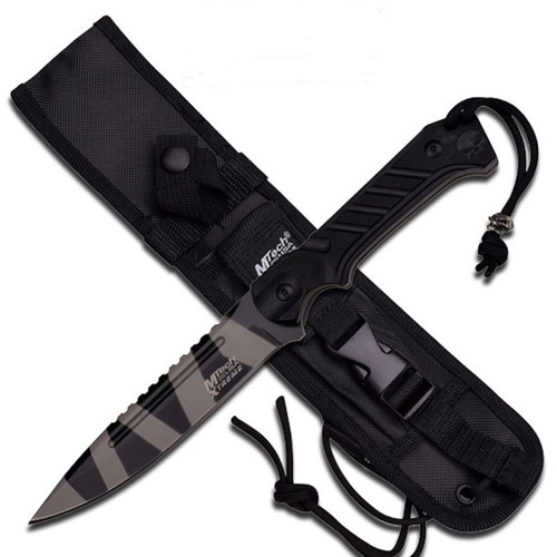 "Mtech USA Xtreme 11"" Fixed 5mm Urban Camo Black Blade Knife"