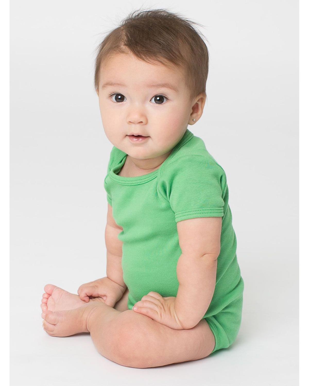 American Apparel unisex-baby Baby Rib Short Sleeve One-piece
