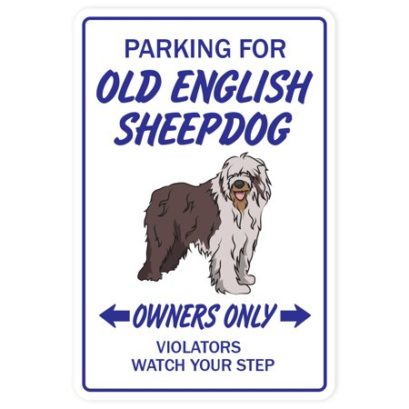 OLD ENGLISH SHEEPDOG Decal dog parking vet kennel puppy | Indoor/Outdoor | 7