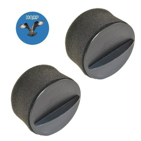 HQRP 2-pack Inner & Outer Circular Filter Set for Bissell 98N4, 948N41, 98N41, 98N4W PowerForce Helix Upright Vacuum + HQRP