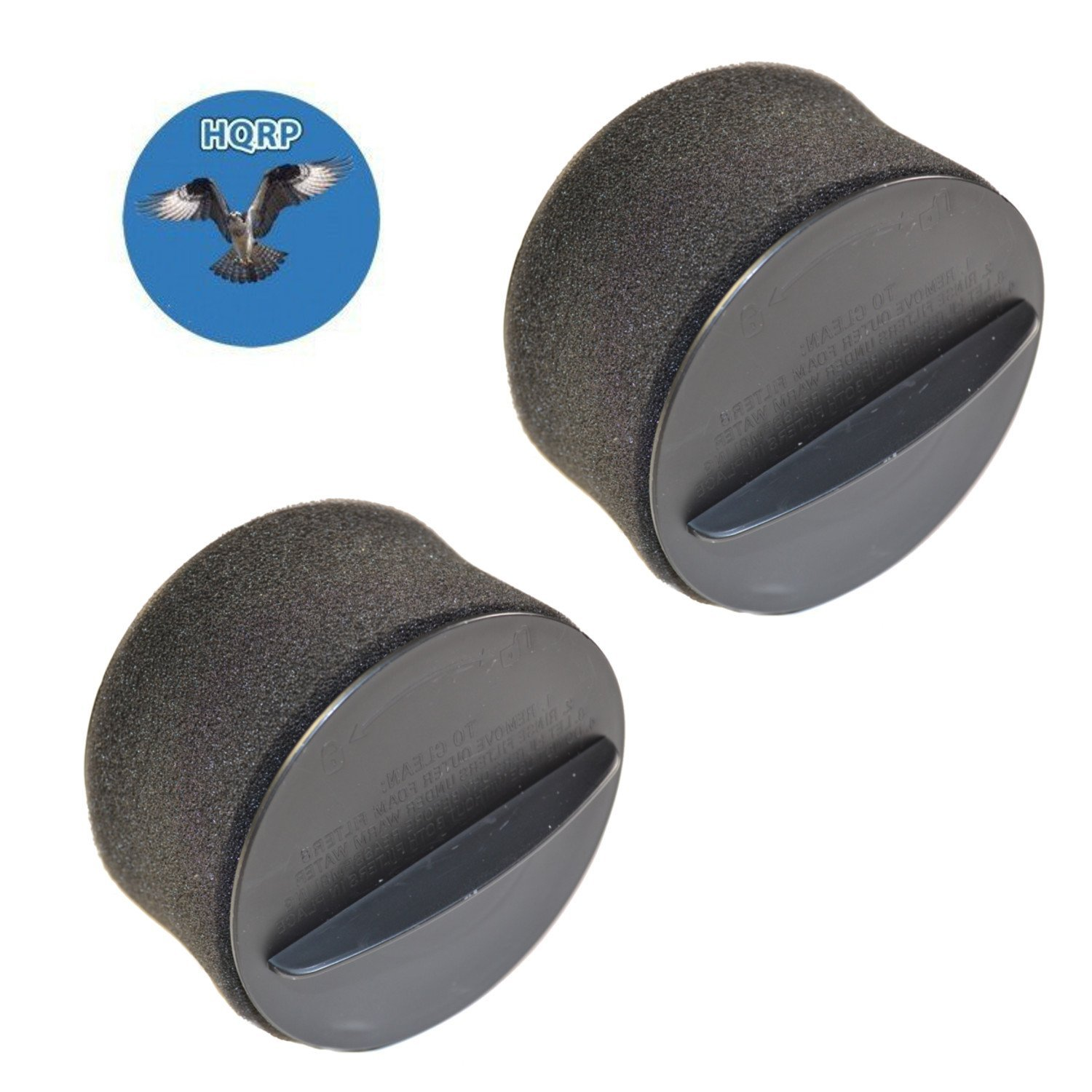 HQRP 2-pack Inner & Outer Circular Filter Set for Bissell 98N4, 948N41, 98N41, 98N4W PowerForce Helix Upright Vacuum + HQRP Coaster