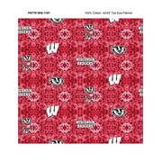 University of Wisconsin Tye Dye Flannel Fabric-Sold by the Yard