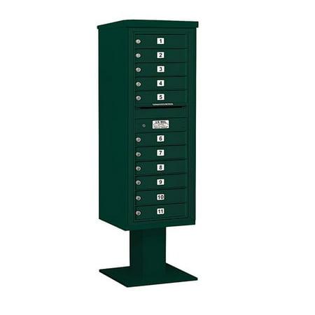 Salsbury Industries Pedestal Mounted 11 Units 12 Door Front Load 4C Ho