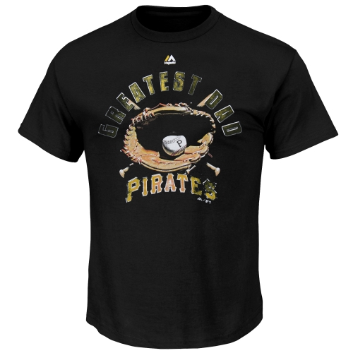 Pittsburgh Pirates Majestic Greatest Dad II T-Shirt - Black