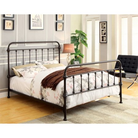 Furniture Of America Celinda Twin Metal Spindle Bed In Dark Bronze by Furniture Of America