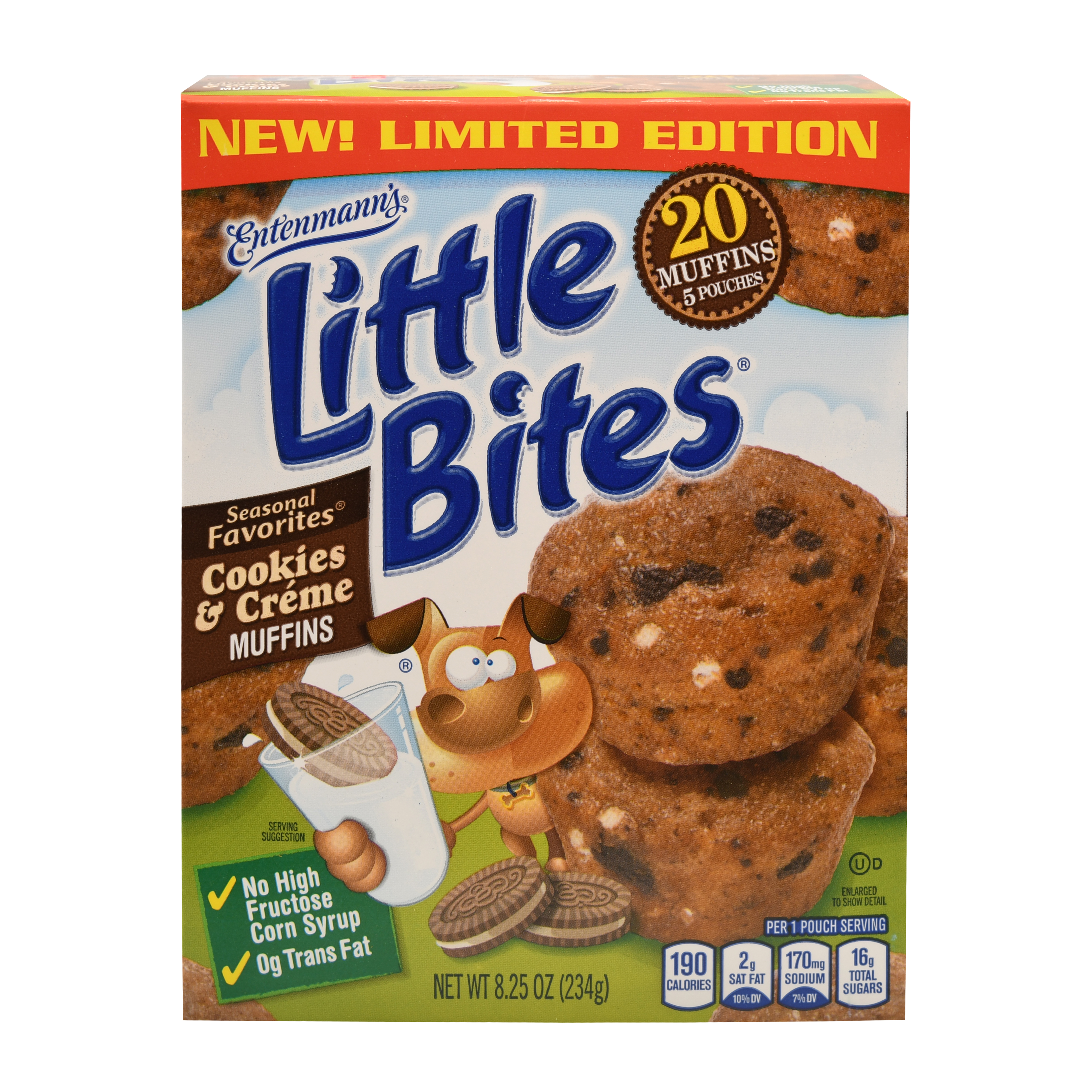 Entenmann's Little Bites Muffins - Seasonal Flavors (Pumpkin, Party Cake, and Butter Cookie), 5ct